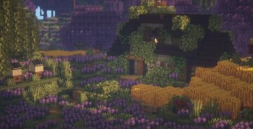 1.16.5 Lavender Fields Cottage |  (with Mods) Minecraft Map & Project
