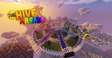 The Hive Arcade lobby - OG HiveMC Arcade 1:1 replica 2013 - DOWNLOAD Minecraft Map & Project
