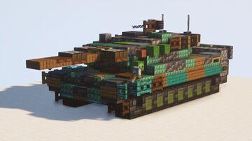 Leopard 2 A5 Main Battle Tank - 1.5:1 scale Minecraft Map & Project