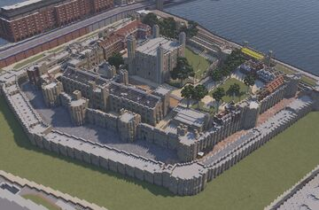 Tower of London 1:1 recreation Minecraft Map & Project