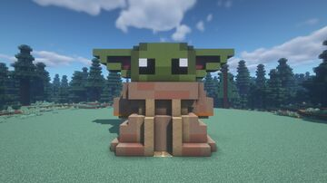 Star Wars Baby Yoda House Minecraft Map & Project