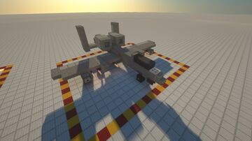 Compact CAS A-10 Warthog with Weapon Minecraft Map & Project