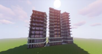 Contemporary modern luxury apartments: Flerovium Apartments - Modern House #8 by ArcturusPhoenix Minecraft Map & Project