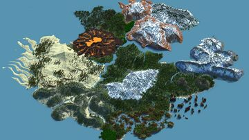 Kenopsia - A 6k by 6k Custom Multibiome Terrain (CINEMATIC VIDEO) Minecraft Map & Project