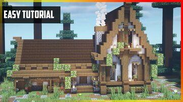 ⚒️ Minecraft: Amazing Medieval Tavern   Easy Tutorial Minecraft Map & Project