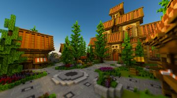Spawn / Lobby (150x150) Structure Minecraft Map & Project