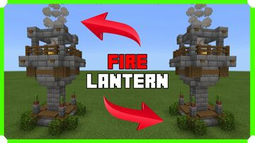 How To Build A Fire Lantern Minecraft Map & Project
