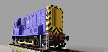 British Rail Class 08 Minecraft Map & Project