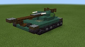 1.5:1 scale T92 light tank Minecraft Map & Project