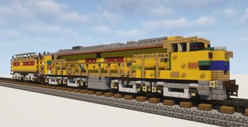 "1.5:1 Scale Union Pacific ""Veranda"" Gas Turbine-Electric Locomotive #61 Minecraft Map & Project"