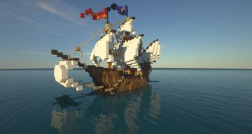 """Medieval Ship large Carrack """"Argotus"""" Minecraft Map & Project"""
