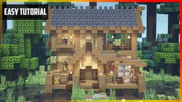 ⚒️ Minecraft: Fisherman's House with Interior   Easy Tutorial Minecraft Map & Project