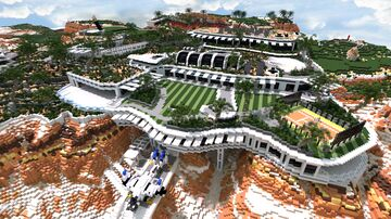 Modern Super mansion 2021 /  NEW INTERIERS / +DOWNLOAD Minecraft Map & Project