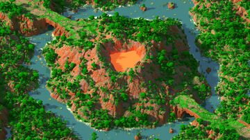 Meet Under Mount  - 2000x2000 | WarZone Map 1.12 - 1.16 | Bedrock support Minecraft Map & Project