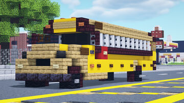Yellow School Bus Minecraft Map & Project