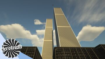 WTC Twin Towers   1:2 scale + download Minecraft Map & Project