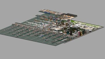 Naval and Air Force Combined Area ft Port and ship building V2 ( spring 2021) + download !! Minecraft Map & Project