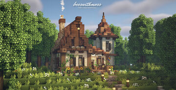 Cute old brick cottage 🌿🌻🏳️🌈 Minecraft Map & Project