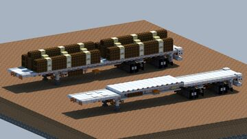 Fontaine Revolution, Flatbed trailer [With Download] Minecraft Map & Project