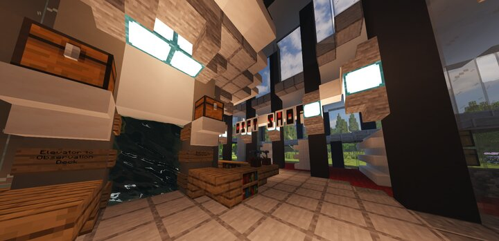 Base Level, peering into the Gift Shop.