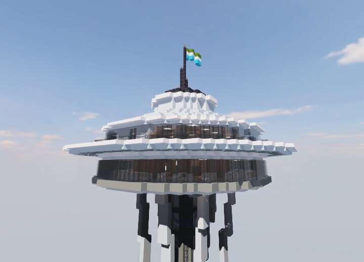 The Top of the Space Needle. It rotates slowly throughout the day.