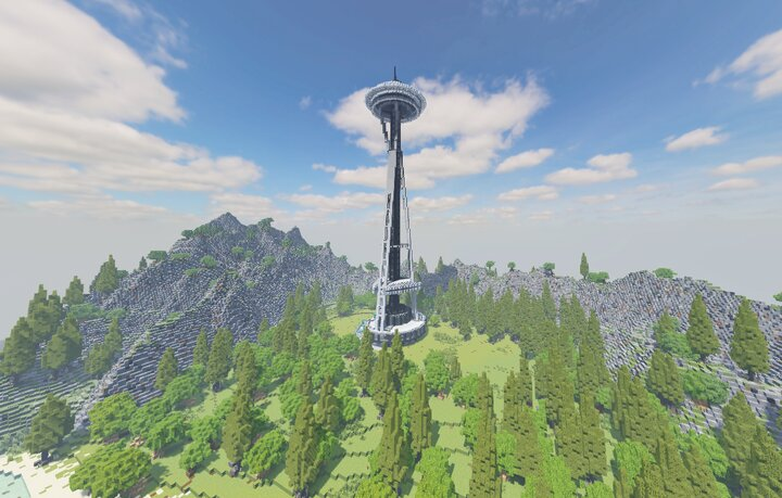 The Entire Structure measures 605 feet 184 metres, which just barely fits within the default sea level of a Minecraft World.