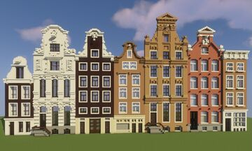 Dutch Amsterdam Canal Buildings Minecraft Map & Project