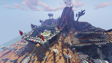 Fire & Volcano Pokemon Elite Four (Commission By MagmaBuilds) Minecraft Map & Project