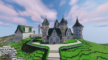 Fantasy Castle Bedrock + Java Map Minecraft Map & Project