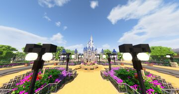 Walt Disney World - The Palace Network - Magic Kingdom Minecraft Map & Project