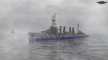 USS Detroit 1:1 Scale Omaha class Minecraft Map & Project