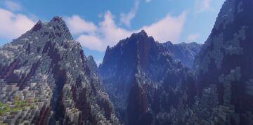 Mountain Prison Mining Server Terrain 2000x2000 Timelapse Minecraft Map & Project