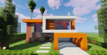 Modern House #P2 (Map + Schematics Minecraft Map & Project