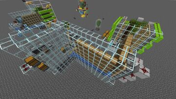 No TNT Auto Tree Farm with Vanilla Plus! Minecraft Map & Project