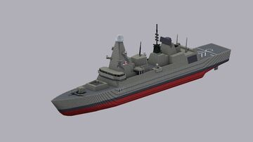 Type 45 Destroyer Minecraft Map & Project