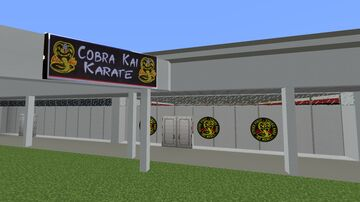 UPDATED, Cobra Kai Dojo (With Mods) Minecraft Map & Project