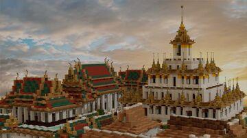 Wat Ratchanatdaram Worawihan, Bangkok, Thailand on 1:1 scale (BTE) Minecraft Map & Project