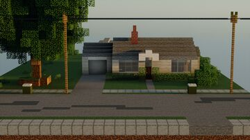 Classic American Post-War House [Full Interior with Download] - Bangor Maine, 1953 Minecraft Map & Project