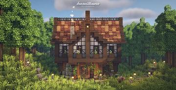 Pumpkin Spice Tudor Cottage 🍂🥧🌼 Minecraft Map & Project