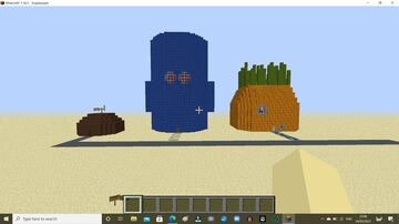 Spongebob, Squidward and Patrick's house Minecraft Map & Project