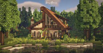 Big cozy cabin 🌿🌲☕ Minecraft Map & Project