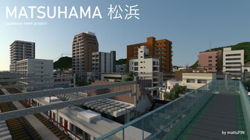 Matsuhama 松浜 | Japanese Coastal Town [Release 1] Minecraft Map & Project