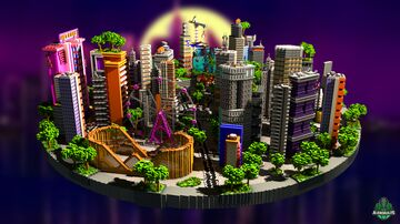 ⭐ EXCLUSIVE ⭐ LengyMushy Lobby - AliensBuilds 🌆 Minecraft Map & Project