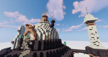 Asylum Style Town hall, HoMM IV inspiration by QbaQ Minecraft Map & Project