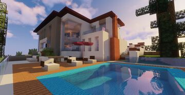 Modern House #P4 (Map + Schematic) Minecraft Map & Project