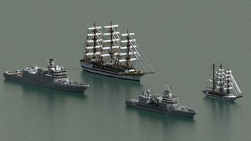 Training ship, Sailing ship training (Happy Reunification Day 30/4/1975-30/4/2021 Việt Nam) Minecraft Map & Project