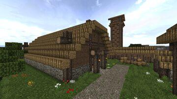 Meoduhealle (mjöð-rann) Minecraft Map & Project
