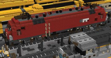 1.5:1 Siemens Electric Locomotive Pack Minecraft Map & Project