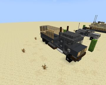 Marine transport truck Minecraft Map & Project