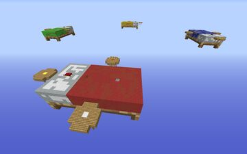 """BedWars Map """"Bed"""" Minecraft Map & Project"""